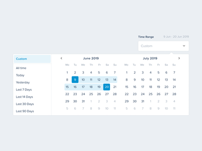 Custom Timerange UI Datepicker uikit designsystem ui ux product productdesigner dashboard productdesign uiux dailyui calendar date custom datepicker
