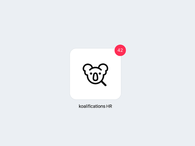 Daily UI 005 — Icon (Recruiting Tool) dailyui 005 day005 logo uidesign daily 100 challenge recruiting hr koala icon app icon appicons daily dailyui