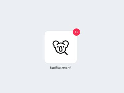 Daily UI 005 — Icon (Recruiting Tool) dailyui 005 day005 logo uidesign daily 100 challenge recruiting hr koala icon app icon appicons daily dailyui