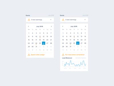 Server Monitoring — Events (Calendar)