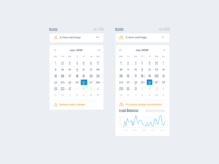 Server Monitoring — Events (Calendar)