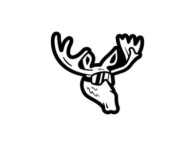 Moose WIP illustration mascot logo outdoors moose