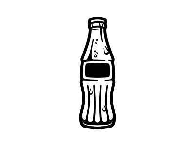 Cola WIP drip cold drink illustration bottle soda pop cola