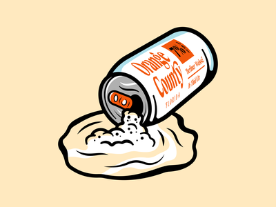 Spilling Can illustration can beer