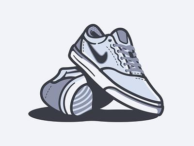 Nike SB Charge nike shoe skate illustration