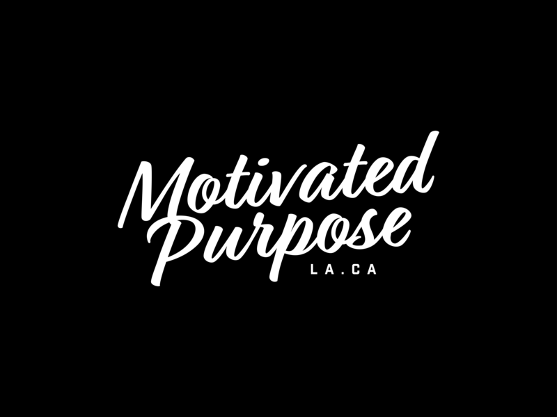 Motivated Purpose basketball script logo purpose motivated