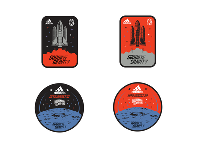 BBC X Adidas Patch Work space sport brand badge patch