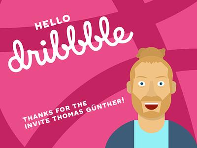 Hello dribbble first shot selfie illustration dribbble debut