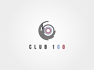 Logo Club 100 – radio oncology radio oncology medicine cancer lettering type logo