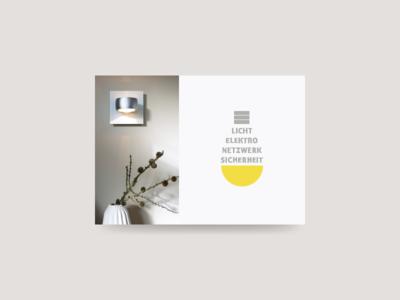 postcard light bulb