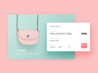Daily UI: #002 Credit Card Checkout