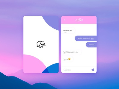 Daily UI: #013 Direct Messaging direct messaging ux ui message chat muzli pink purple web gradient chatbox
