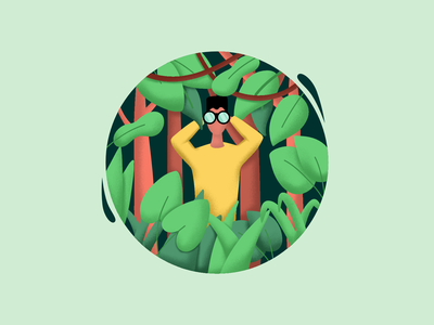 Search || Ilustration invite application job bruvvv freebie wallpaper amazon search engine optimization trees forest wild lion animals watch homepage leaves jungle book search jungle illustration