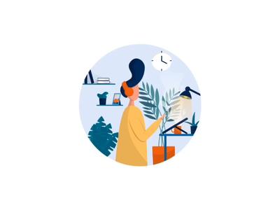 Chris + Jon || Illustration Process video design after effects pastel bruvvv podcast web landing line art drawing floral plants work music ipad pro art digital procreate illustration process