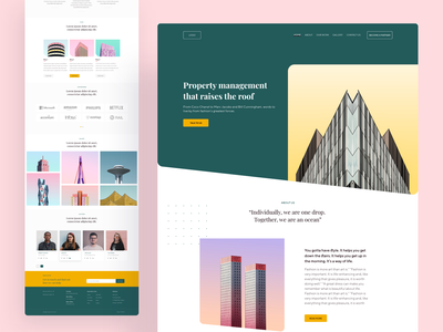 Website Concept - Real Estate minimalism minimal real estate concept homepage website design design webdesign website web ux ui dribbble