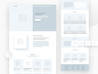 A quick website wireframe