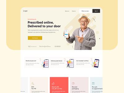 Medicine Online Store online store homepage design medicine