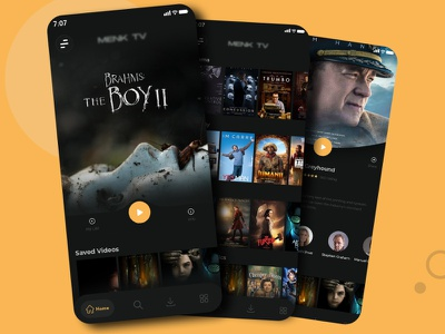 Netflix app Redesign player detail play video category app typography ux ui