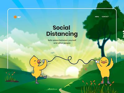 Landing Page uiux socialdistance coronavirus