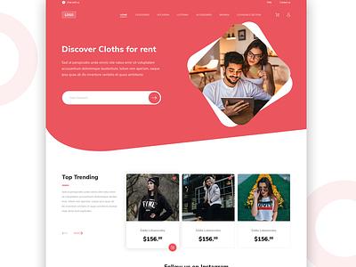 Home page branding fashion website homepage design shopify theme