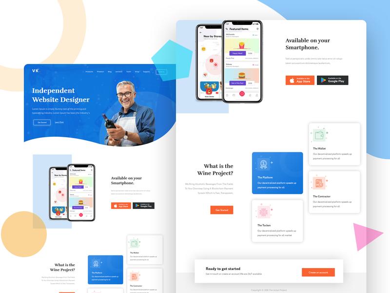 Landing Page Design uidesign brandid email template landing page website design website redesign