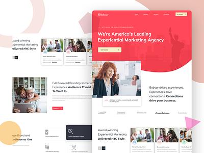 Homepage Design landing page branding banner design homepage design