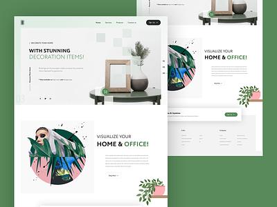 Landing Page Design web ux app design logo vector typography ui banner design branding homepage design landing page decoration