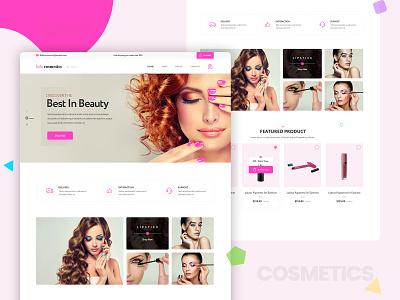 Cosmetic Homepage landing page logo vector typography ux ui banner design homepage design