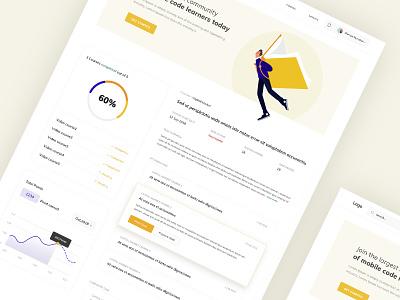Education ux ui branding homepage design typography illustraion webapp design