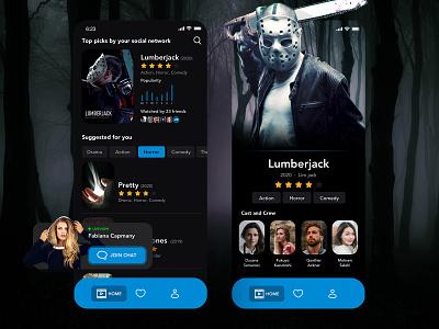 TV APP   Daily UI #025 horror horror movie lumberjack movie app movies tv app app design ui app daily ui dailyui 林位青 app ui
