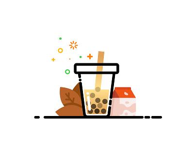 Pearl milk tea   Daily UI #005 奶茶 林位青 台灣小吃 珍珠奶茶 drinks drink taiwan taiwanese snacks mbe style milk tea pearl pearl milk tea daily ui dailyui app ui