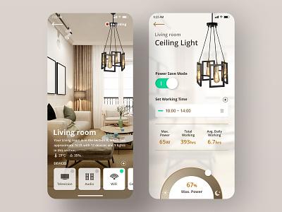 Smart home   Daily UI #007 林位青 light ceiling ceiling light living room ui app app design daily ui dailyui app ui smart home app smart home