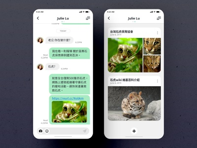 Direct Messaging   Daily UI #013 taiwan leopard cat 山貓 prionailurus bengalensis 石虎 app design ui app daily ui dailyui 林位青 app ui