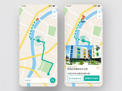 Location Tracker   Daily UI #020 map location location tracker design app design ui app daily ui dailyui 林位青 app ui