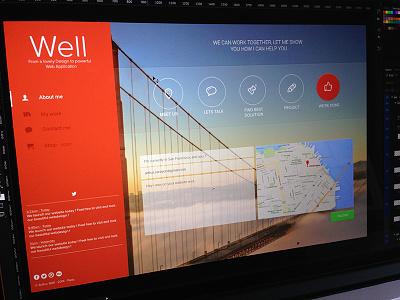 Well Agency - Contact ui ux arthurcarayon contact opacity home portfolio navbar red transparence map webdesign