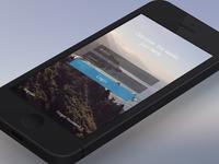Landing screen - Nature - IOS