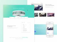 Booking flights - Homepage