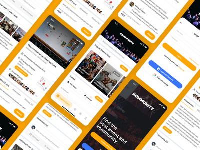 Kommunity Mobile App design mobile design community app community mobile app design mobile app