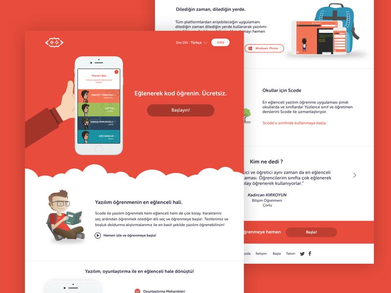 Scode Web mobile app app scode sketch design web design website