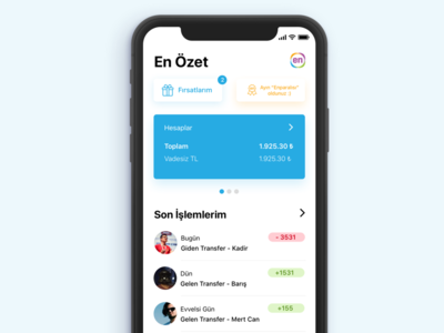 Enpara.com iPhone X Redesign