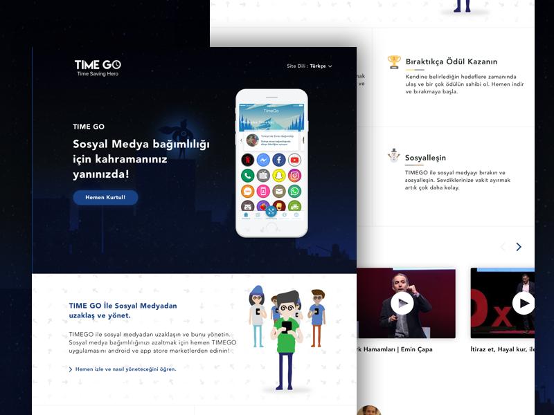 TimeGO Time Saving Hero ux ui web website timego