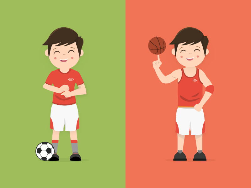 Scode, Basketball & Football Player player vector scode