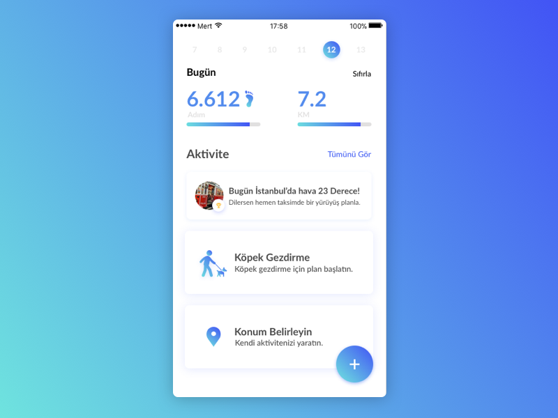 Fitness App challenge step fitness app