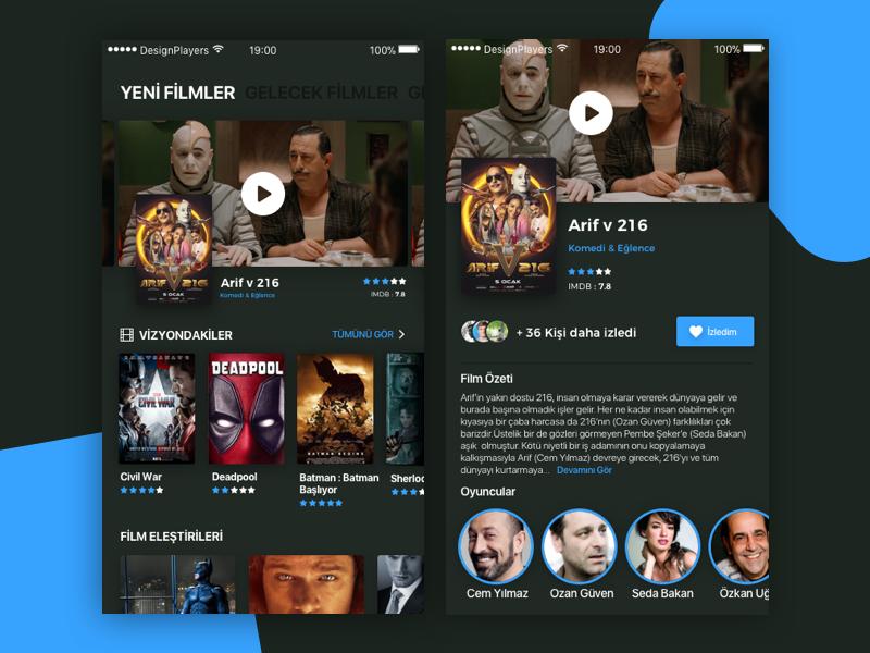 Movie App designplayers design app movie