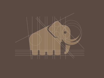 Woolly Mammoth logo design