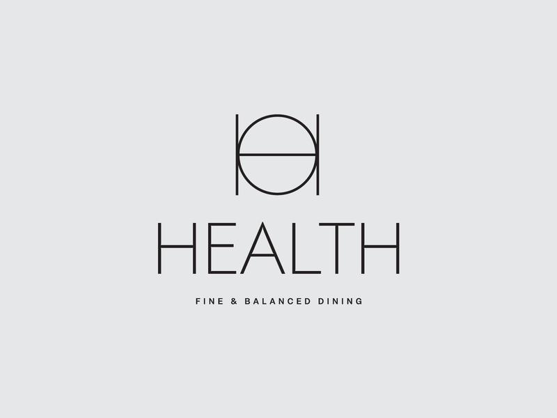 Health 2 restaurant symbol type typography simple modern logo concept old concept logotype logo
