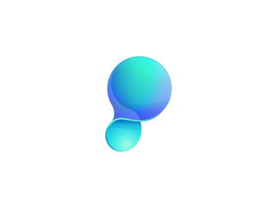 Symbol P vibrant p letter logo transparent plastic symbol type p letter gradient