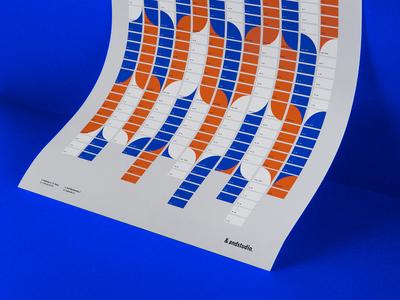 Calendar 2018 stationary orange logo branding brand blue andstudio layout design 2018 calendar
