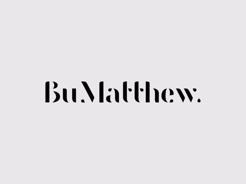 BuMatthew brand jewellery type typographic logo logotype