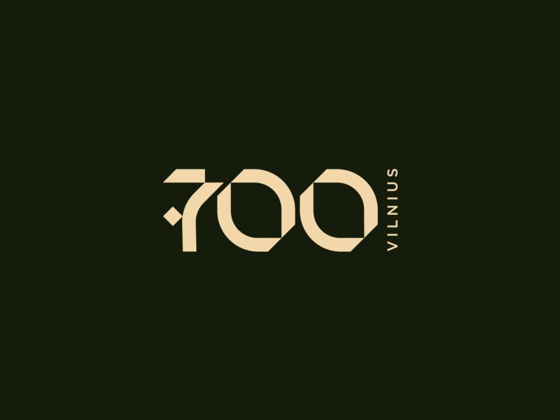 Vilnius 700 solidity anniversary celebration city typography typographic design logotype brand type logo